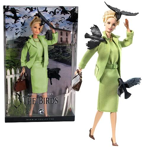 Alfred Hitchcock The Birds Barbie Doll - Mattel - Hitchcock - Dolls at Entertainment Earth :  movie the birds barbie collectors item
