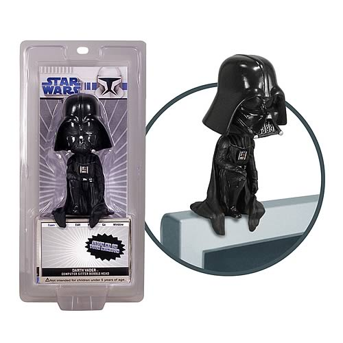 Star Wars Darth Vader Computer Sitter Bobble Head | Gifts For A Geek and Toys
