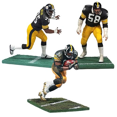 NFL Pittsburgh Steelers Legends 3-Pack Figures