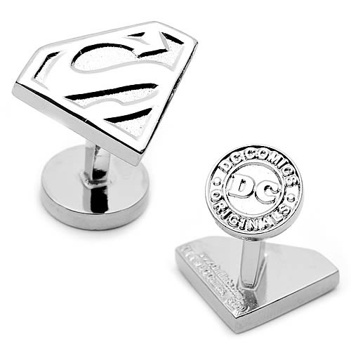 Superman Silver Shield Cufflinks