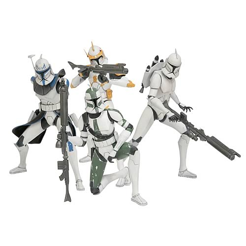 Star Wars Clone Wars Series 2 Clone Trooper ArtFx Statue Set