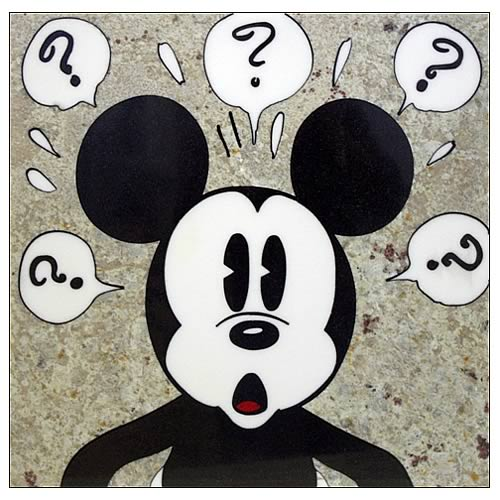 Mickey Mouse Surprised Mickey Stone Artwork