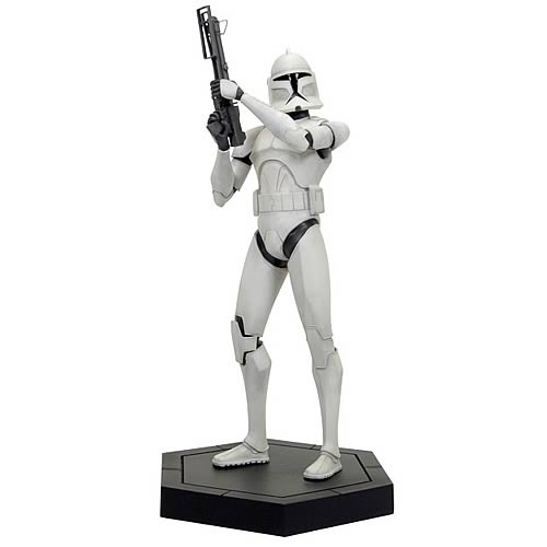 Star Wars Clone Wars White Clone Trooper Maquette