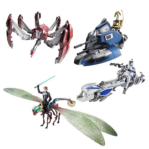 Star Wars Clone Wars Vehicle and Figure Packs Wave 1