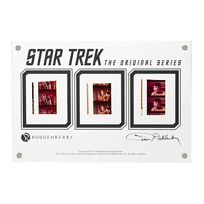 Star Trek Original Series Film Cell Display