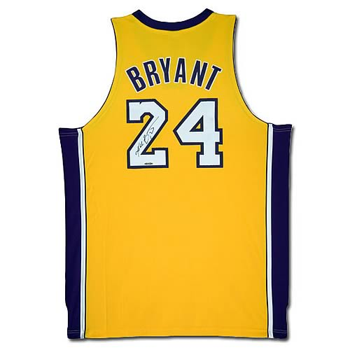 NBA Kobe Bryant Signed Lakers Gold (Home) Jersey