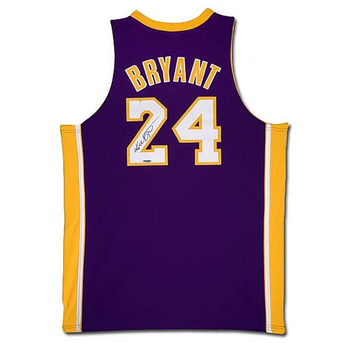 NBA Kobe Bryant Signed Lakers Purple (Away) Jersey