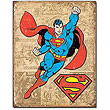 Superman Weathered Panels DC Comics Retro Tin Sign