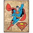 Superman Weathered Panels DC Comics Retro Tin Sign