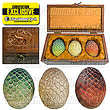Game Thrones Dragon Egg Replica Set Wooden Box EE Exclusive