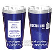 Doctor Who TARDIS Police Sign - 16 oz. Glass Set of 2