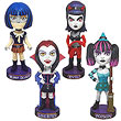 Goth Halloween Bobble Head Super Bundle