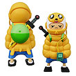 Adventure Time Puff Jake and Lil Finn Vinyl Figure